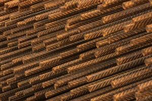 Stangen aus geschweißtem Eisen zur Betonverstärkung foto