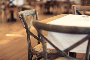 Essen im Restaurant, Tisch, Hintergrund foto