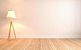 leerer Innenraum mit Lampe enthalten. 3D-Illustration foto
