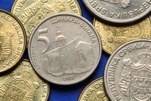 Münzen von Serbien foto