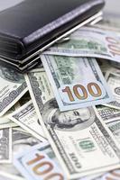 Brieftasche und Dollar foto