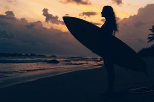 Maui Beach Sunset Reisewerbung foto
