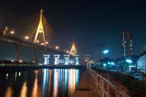 Bhumipol-Brücke in Bangkok von Thailand foto