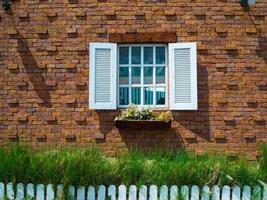 Fensterrahmen, Stein foto