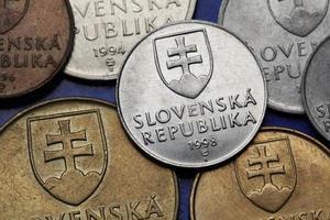 Münzen der Slowakei foto