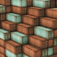 viele Frachtfrachtcontainer