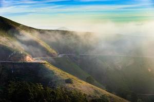 marin Landzunge im Nebel foto