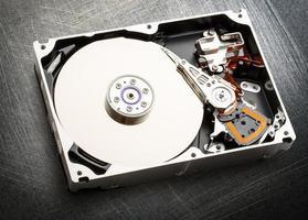 Hardware des internen Mechanismus der Festplatte foto