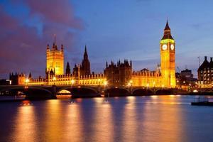 Big Ben und Palast von Westminster foto