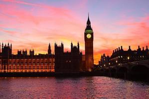 London. Big Ben Glockenturm. foto