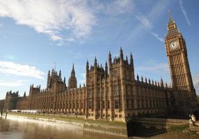 Häuser des Parlaments Westminster Palace London Gothic Architectu foto
