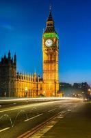 der Palast von Westminster in der Abenddämmerung, London foto