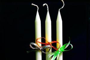 Weihnachtskerzen - Archivbild foto