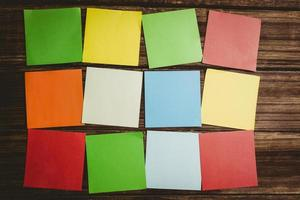 bunte klebrige post its
