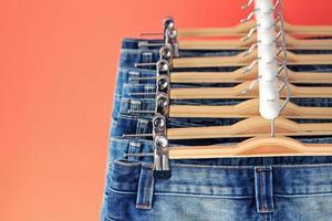 Nahaufnahme von Blue Jeans foto