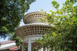 obere Struktur eines Pavillons foto