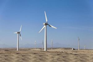 Windgeneratoren in Ägypten foto