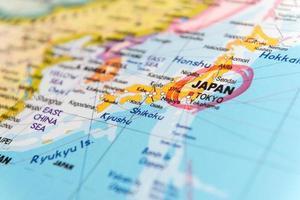 Karte von Japan foto