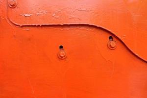 Hintergrund der orange Metallplatte foto