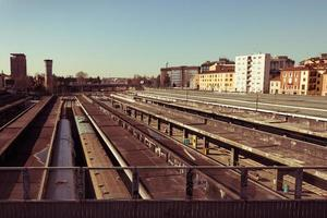 Draufsicht auf den Bahnhof foto