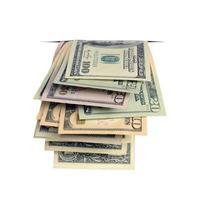 Dollar im Schlitz. foto
