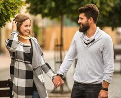 Paar zu Fuß foto
