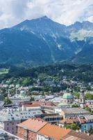 Gesamtansicht von Innsbruck in Westösterreich.