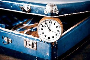 Zeit zu gehen oder zu reisen - Retro-Stil