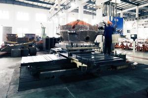moderner Mechanismus Fabrikinnenraum foto