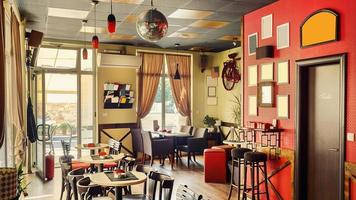 Cafe Interieur Retro-Design foto