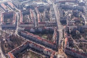 Luftaufnahme des Stadtzentrums von Breslau