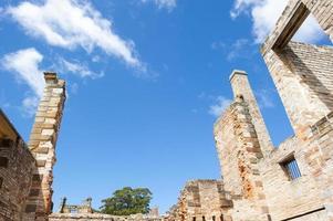 Ruine Hafen Arthur Sträfling Siedlung Tasmanien foto