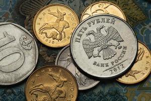 Münzen von Russland foto