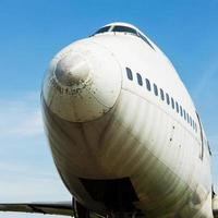 Nahaufnahme eines Vintage-Propellerpassagiers foto