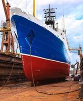 Schiff im Trockendock foto