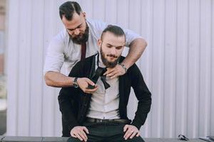 Krawatte auf einer Straße foto