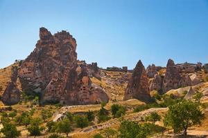 Höhlenstadt in Kappadokien Truthahn foto