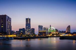 Yokohama Skylines bei Minato Mirai 21 foto
