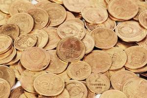 UdSSR alten schmutzigen Münzen Hintergrund foto