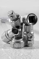 Schraubenschlüssel Schrauben und Muttern foto