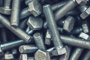 Sechskantschrauben aus Metall foto