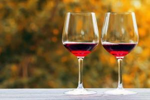 Glas Wein foto