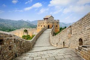 spektakuläre Chinesische Mauer bei in Peking foto