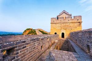 Große Mauer das Wahrzeichen von China und Peking foto