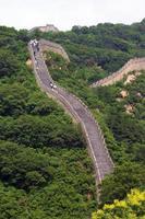 Blick auf die große chinesische Mauer foto