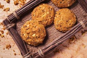 Kekse, Snackmischung, Getreide mit gesundheitlichen Vorteilen. foto
