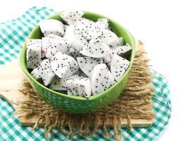 weiße Drachenfrucht mit hohem Nährstoffgehalt gut für die Gesundheit foto