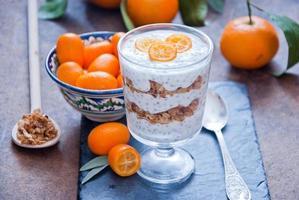 gesundes Frühstück - Chiasamenpudding foto