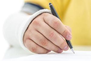 Unterzeichnung der Versicherungspolice foto