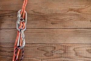 Bergausrüstung zum Klettern foto